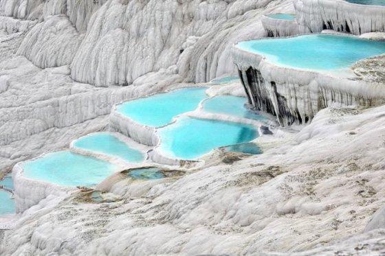 Fotolia nuotr./Pamukalės mineralinės versmės, Turkija