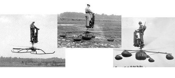 """JAV Armijos transporto muziejaus nuotr./""""Aerocycle"""" aplinkiniams paliko pakankamai didelį įspūdį"""