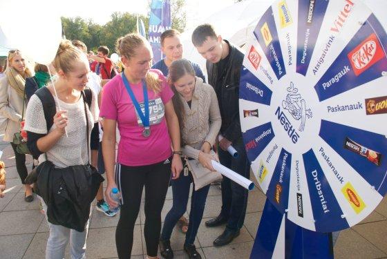 """Bėgimas keičia gyvenimą - priverčia jį skanauti. UAB """"Nestlé Baltics"""" nuotr."""