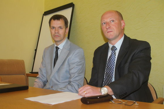 Tomo Markelevičiaus nuotr./Algis Marcinkevičius (kairėje) ir Aurelijus Navickas