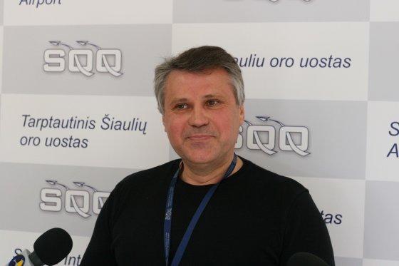 Alvydo Januševičiaus nuotr/Šiaulių oro uosto direktorius Romas Mikšys