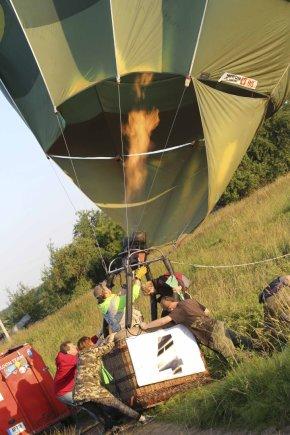 Auklėtoja Aurelija skrido oro balionu