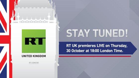 RT United Kingdom prisistatantis paveikslelis