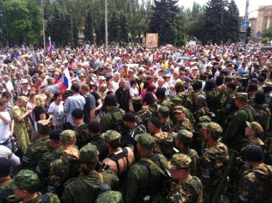 ZN.ua nuotr./Mitingas Donecko centre