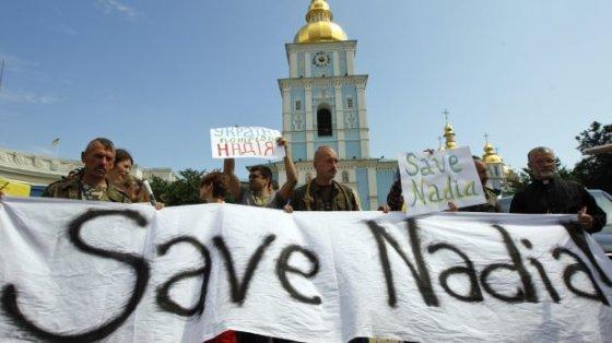 reuters.com/Protestas prieš Nadios Savčenko įkalinimą Voroneže
