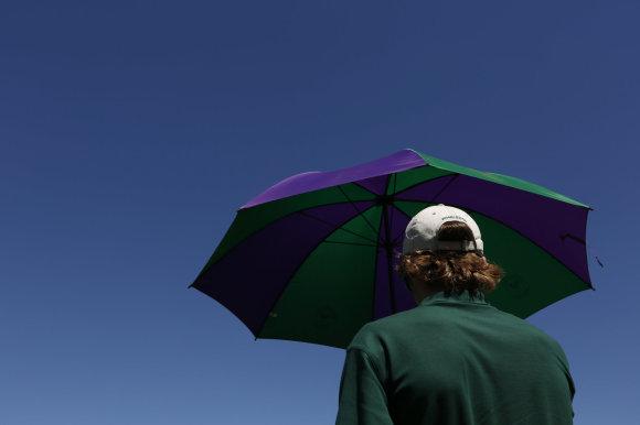 Vidurkį viršijantis karštis verčia Vimbldono organizatorius mažinti žiūrovų skaičių