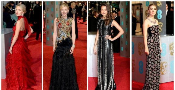 Į BAFTA apdovanojimus Londone renkasi ryškiausios kino žvaigždės