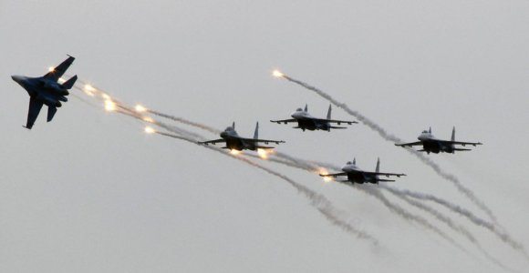 Virš Ramiojo vandenyno ir šalia Kalifornijos – itin padažnėję Rusijos naikintuvų skrydžiai