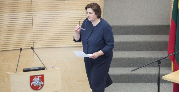 L.Graužinienė atleido su Darbo partija susijusius komandos narius, tačiau partijos dar nemeta