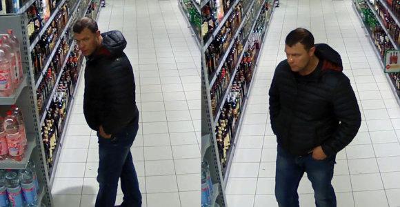 Alytaus policija greitai rado alkoholinio gėrimo butelį nugvelbusį vyriškį