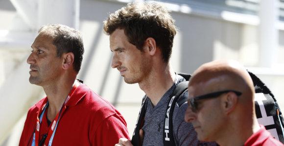 """Teniso ekspertas: """"Praleisti vasario mėnesio turnyrai nepakenks Andy Murray reitingui"""""""