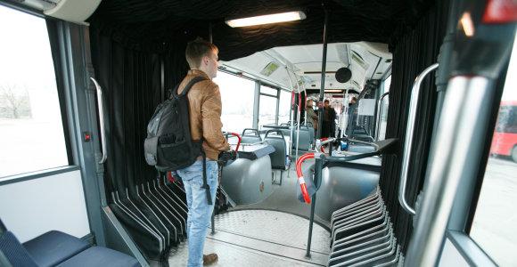 Kaune keleivius vežios rekordinio ilgio autobusas