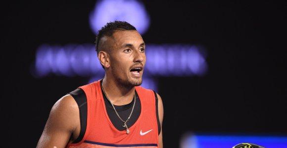 Toliau retėja turnyro Roterdame dalyvių gretos: Nežais Nickas Kyrgiosas