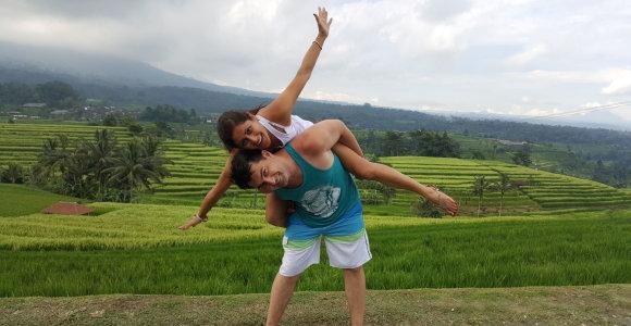 Radvilas Bubelis su žmona Mariana medaus mėnesį leido laukinėje Balio gamtoje