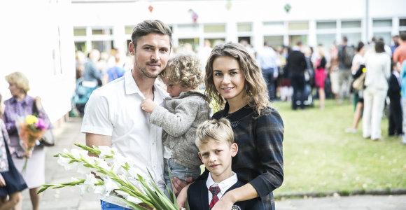 Rugsėjo 1-oji futbolininko Sauliaus Mikoliūno šeimoje: sūnus Kajus – į mokyklą, Oskaras – į darželį