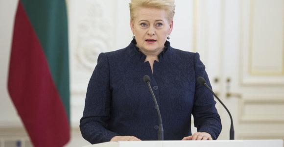 """Prezidentė apie Rusijos abejones dėl Lietuvos nepriklausomybės teisėtumo: """"Savo likimą spręsime patys"""""""