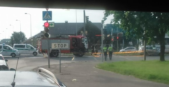 Kaune ugniagesiai pateko į avariją