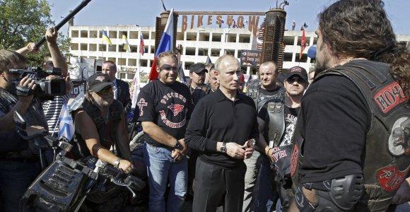 Vladimirą Putiną garbinantys baikeriai organizuoja simbolinį žygį iš Maskvos į Berlyną