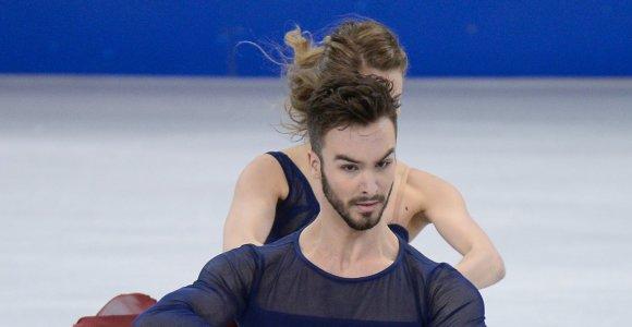 Išskirtinis atvejis – pasaulio čempionų Prancūzijos šokėjų ant ledo poroje visų žvilgsniai krypsta į vyrą