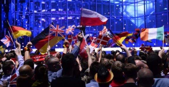"""""""Eurovizijos"""" rengėjai nusprendė, kokių vėliavų neleis įsinešti į Stokholmo areną"""