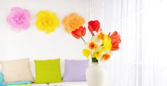 Gėlių motyvai ir jų reikšmė interjere