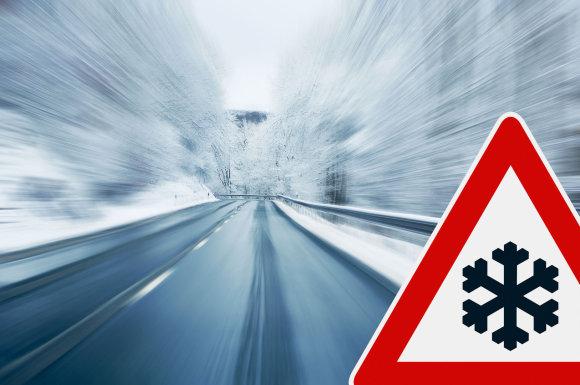 123 RF iliustr./Žiemiškos eismo sąlygos