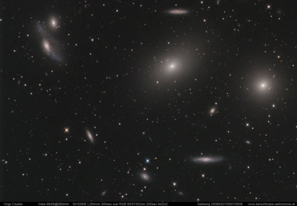 Nuotr. iš/Mergelės galaktikų spiečiaus centrinė dalis
