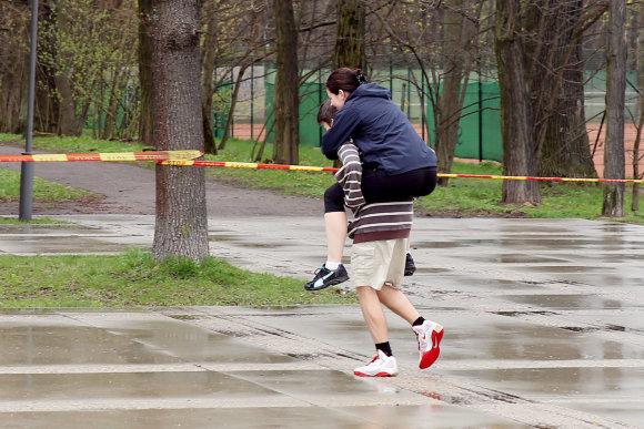 """Teodoro Biliūno/Žmonės.lt nuotr./""""Ažuolyno bėgimo"""" akimirka"""