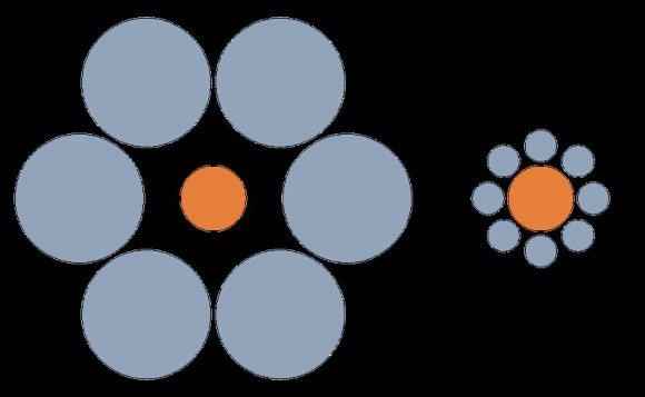 Vikipedijos nuotr./Ebbinghauso iliuzija
