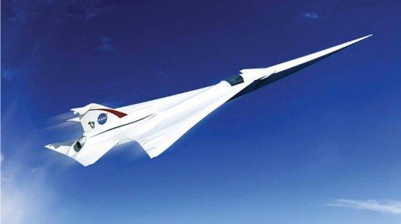 Lockheed Martin iliustr./NASA lėktuvo su QueSST technologija prototipo vizualizacija