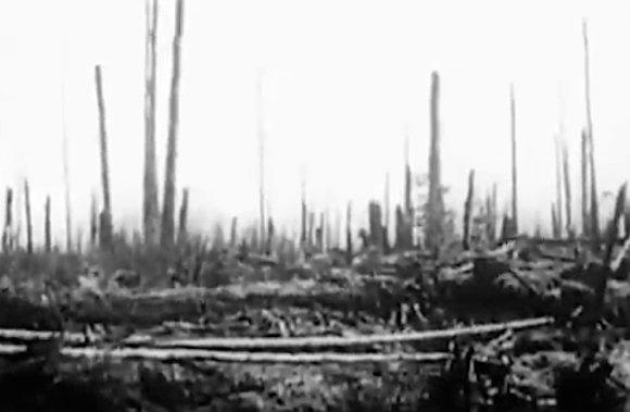 YouTube nuotr./Vieta, virš kurios sprogo Tunguskos meteoritas