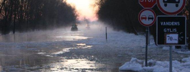 R.Žalgevičiaus nuotr./Potvynis ties Rusne