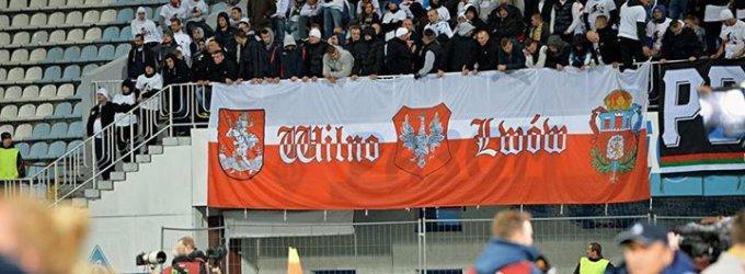 """Už """"Legia"""" sirgalių plakatą klubas gali nukentėti – UEFA skirs nuobaudą"""