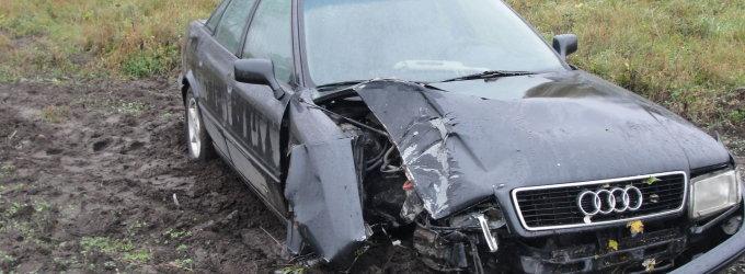 """Naktį stulpą nulaužęs ir """"Audi"""" laukuose palikęs 19-metis iš ryto stebino policiją nuoširdumu"""