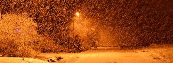 Žemaitiją nuklojo sniego kilimas
