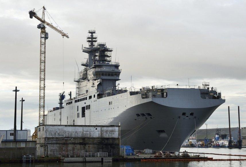 """""""Mistral"""" tipo laivas """"Vladivostok"""" Prancūzijoje"""