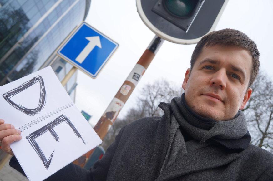 Marijaus Gailiaus nuotr./Briuselyje autostopui paranki vieta – prie pat Europos Komisijos