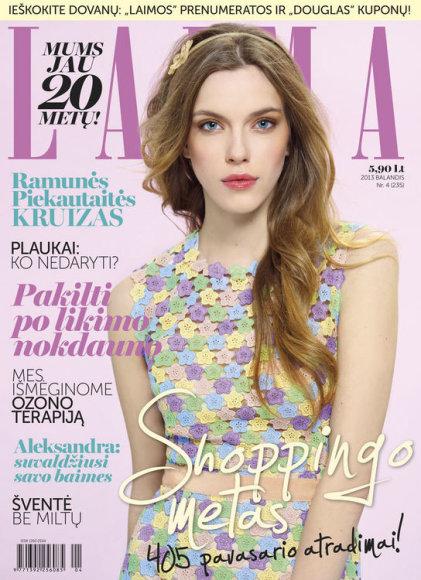 """Žurnalo """"Laima"""" balandžio mėnesio numerio viršelis"""