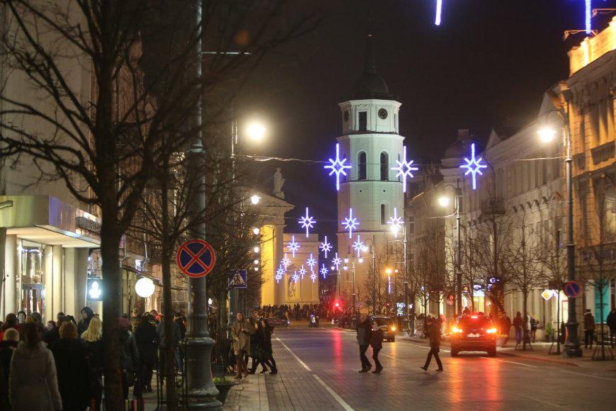 Juliaus Kalinsko/15min.lt nuotr./Kalėdų eglės įžiebimas Vilniuje